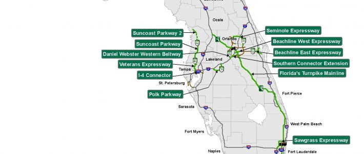 Florida's Turnpike - The Less Stressway intended for Florida Turnpike Map Miami To Orlando