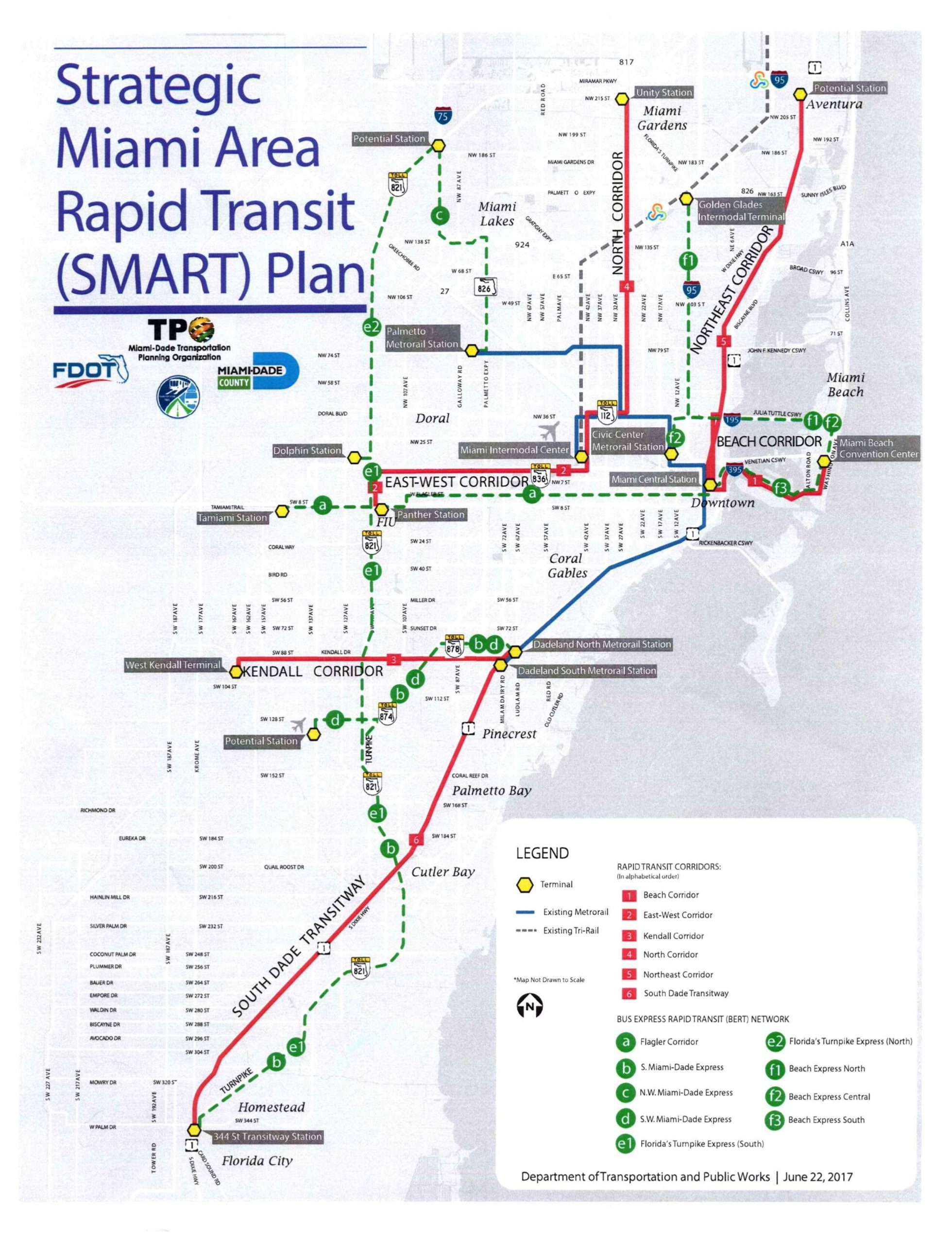 Funding Available To Build Rail Lines Sharply Increases To intended for Miami Metrorail Expansion Map