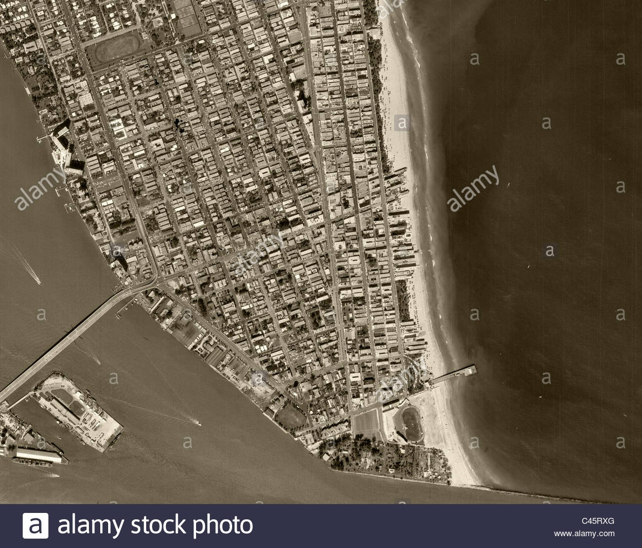Historische Luftaufnahme Kartenansicht South Beach Miami regarding Miami Beach Address Florida