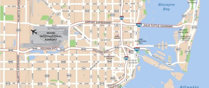 Large Miami Maps For Free Download And Print   High in Miami City Map