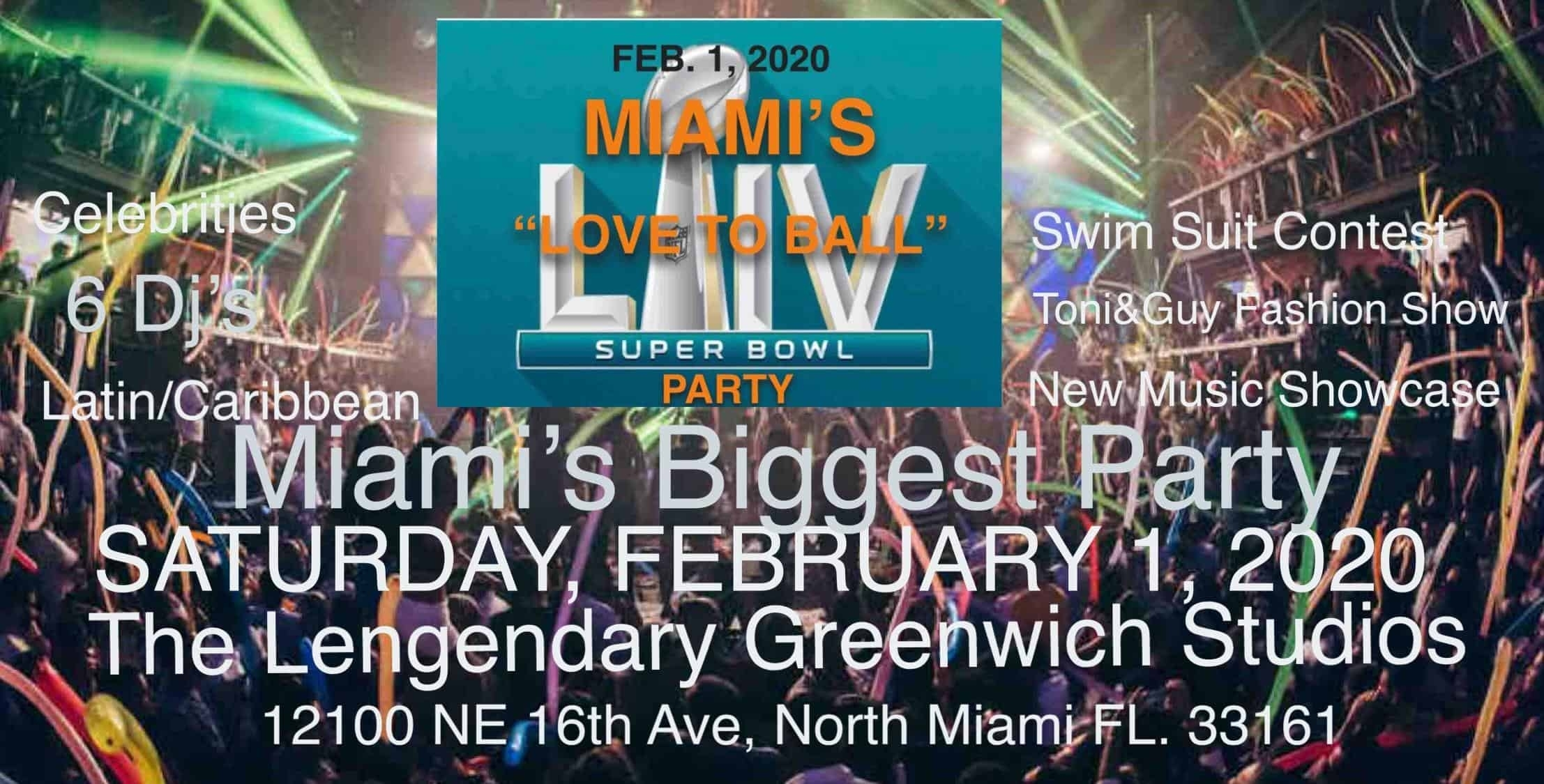 """Love To Ball"""" Miami Super Bowl Party pertaining to Super Bowl Party Miami 2020"""