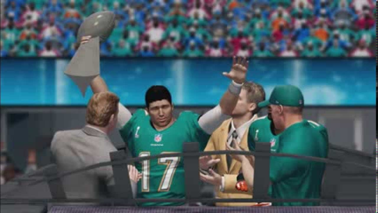 Madden Nfl 25 - Miami Dolphins Super Bowl Video Intro & Celebration for Miami Dolphins Won Super Bowl