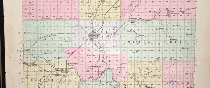 [Map] Miami County, Kansas [Backed With] City Of Paola (Miami Co.) in Miami County Kansas Map