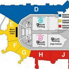 Mia Aeroporto Mappa - Mappa A Aeroporto Internazionale Di regarding Aeroporto Di Miami Mappa