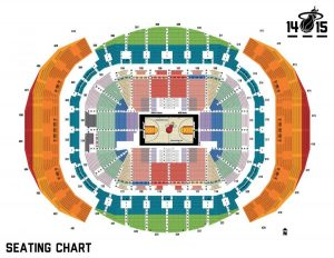 Miami Arena Map - American Airlines Arena Karte (Florida - Usa) for American Airlines Arena Miami Map