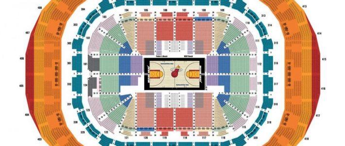 Miami Arena Map - American Airlines Arena Karte (Florida - Usa) for American Airlines Arena Miami Map