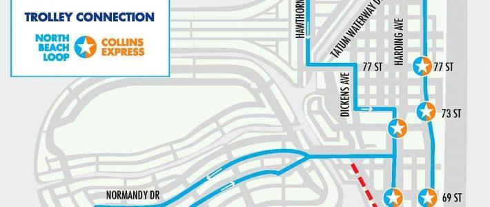 Miami Beach Free Trolley Service   South Beach Magazine for North Miami Beach Trolley Map