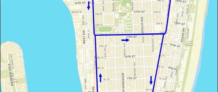 Miami Beach Free Trolley Service   South Beach Magazine within South Beach Miami Trolley Route