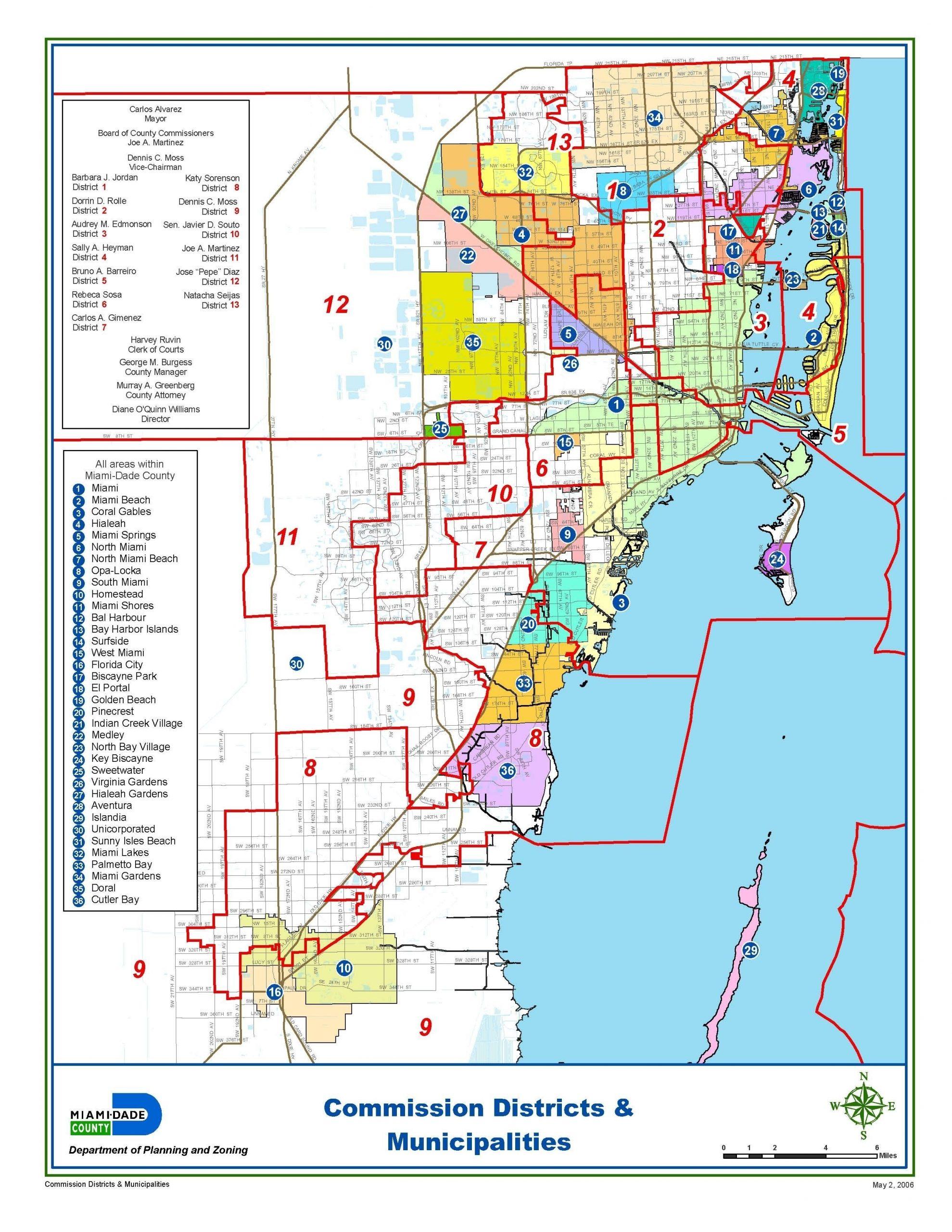 Miami-Dade Municipalities Map | Map, Broward County, Miami pertaining to Miami Dade Municipalities Map