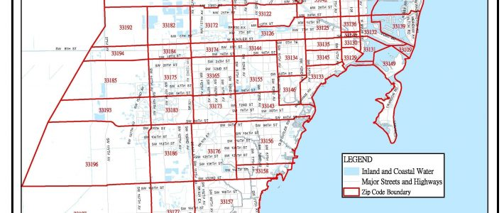 Miami-Dade Zip Code Map In 2020 | Zip Code Map, Miami Dade regarding Miami Beach Florida Zip Code Map