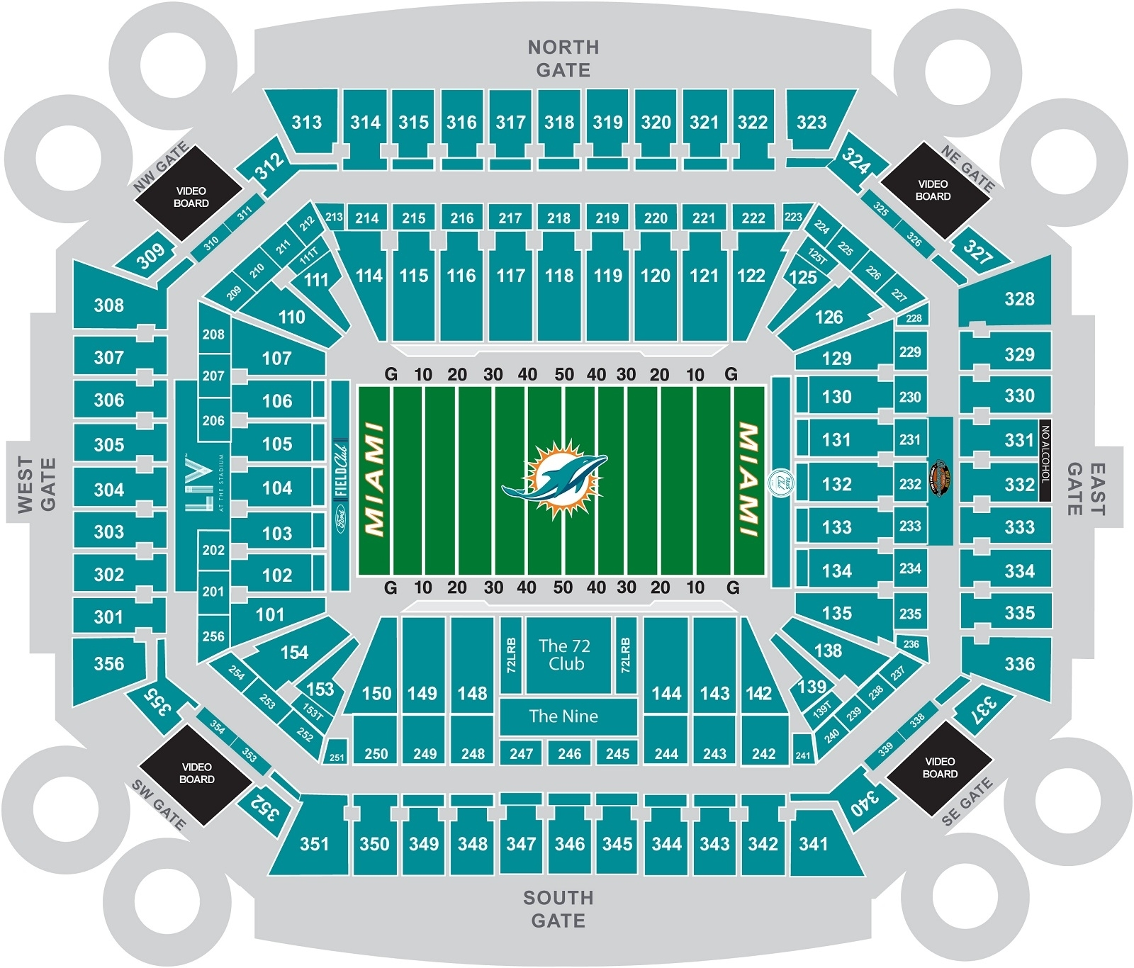 Miami Dolphins Hard Rock Stadium Seating Chart - Marta in Hard Rock Stadium Address Miami