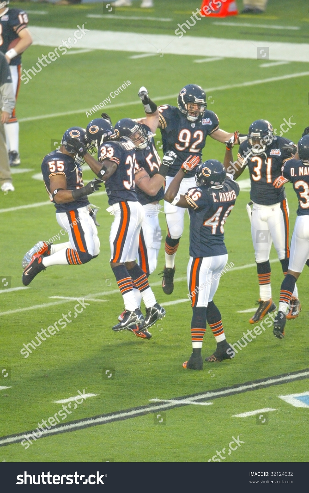 Miami Feb 4 Members Chicago Bears Stock Photo (Edit Now in Bears Super Bowl Miami