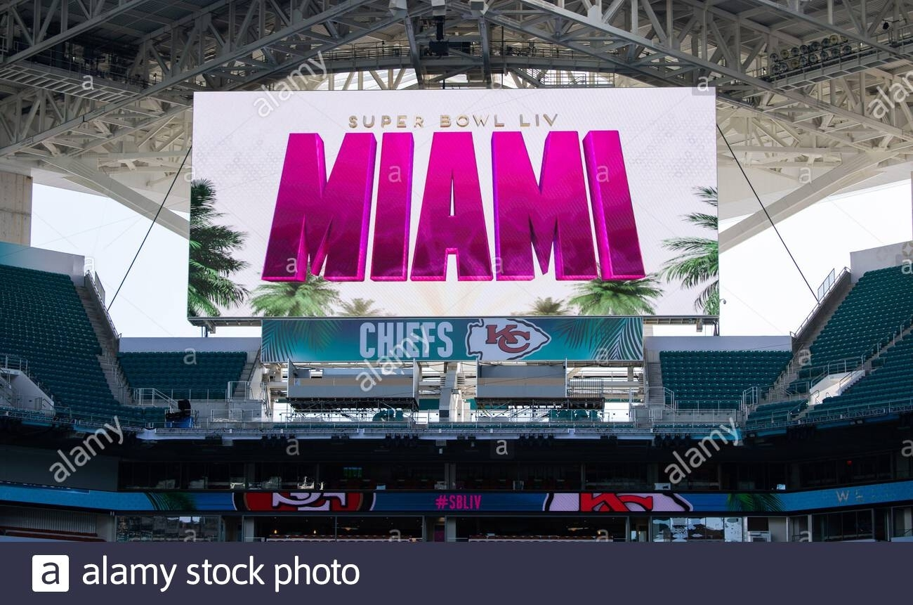 Miami Gardens, United States. 28Th Jan, 2020. A Super Bowl throughout Miami Gardens Super Bowl