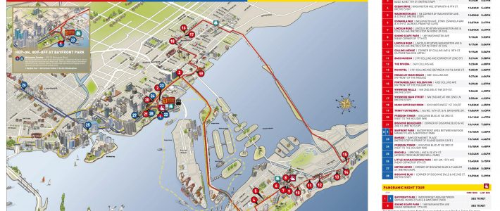 Miami Hop On Hop Off   Bus Route Map   Combo Deals 2020 with Miami Big Bus Tour Map