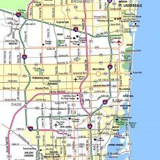 Miami Metropolitan Area Highways - Aaccessmaps throughout Map Of Florida Near Miami