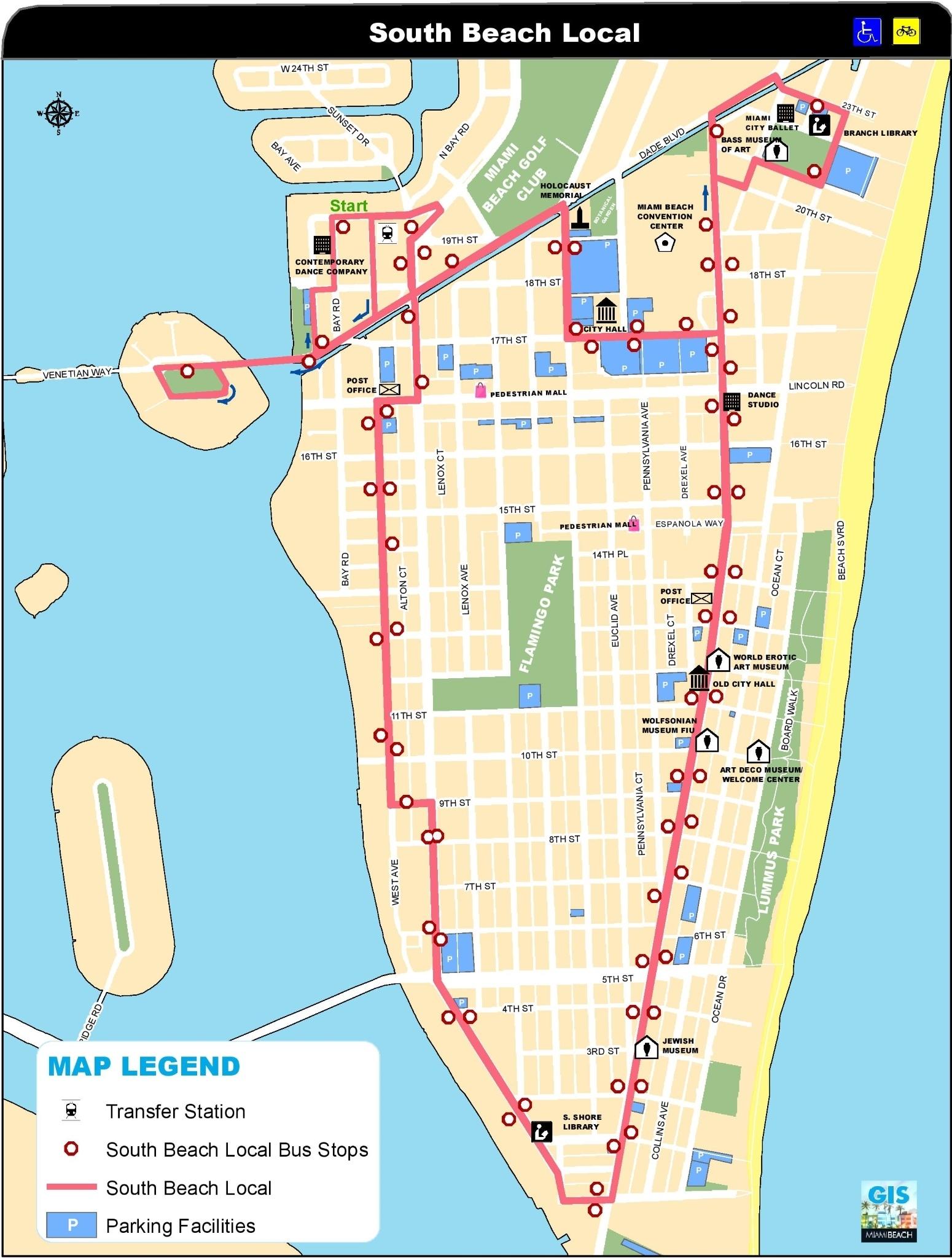 miami south beach map in map of miami beach area - ustrave