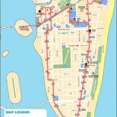 Miami South Beach Map inside Miami South Beach Mapa