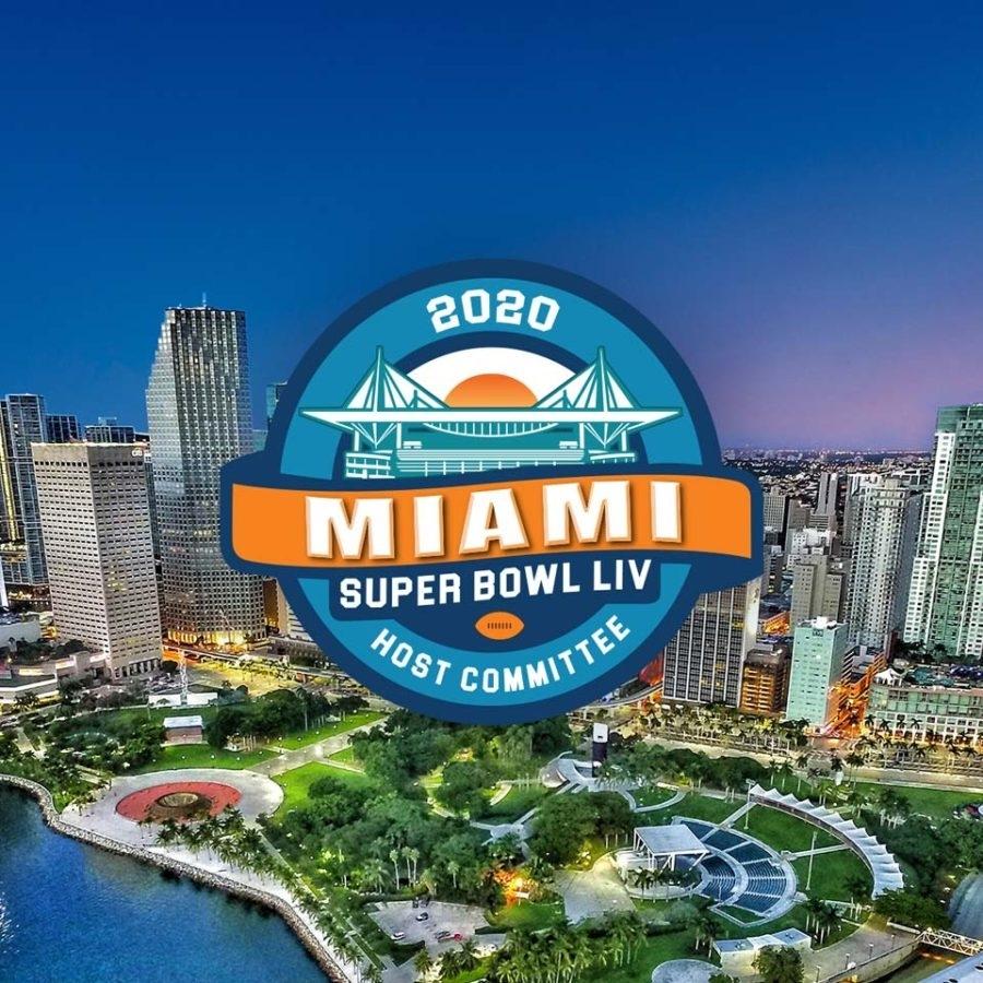 Miami Super Bowl Logo inside Super Bowl 2020 Miami Logo