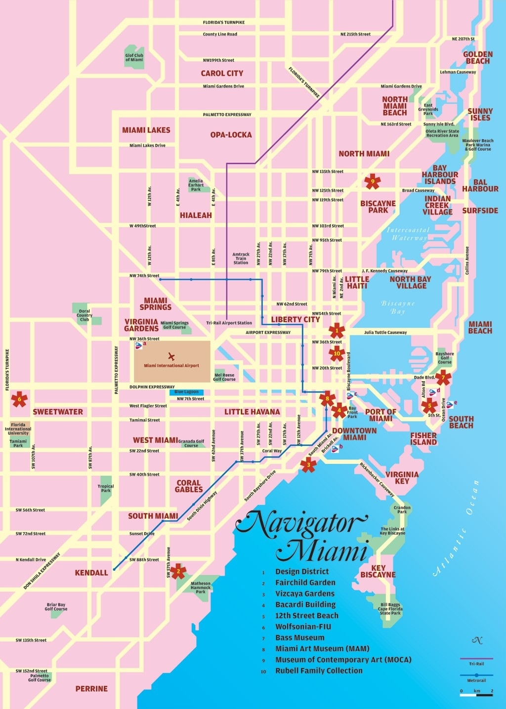 Miami Tourist Map - Miami Florida • Mappery intended for Port Of Miami Florida Map