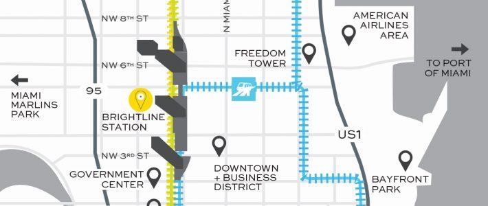 Miami Train Station - Virgin Miamicentral | Brightline with regard to Brightline Train Miami Map