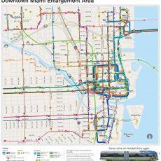 Miami Transit Map - Miami Public Transit Map (Florida - Usa) throughout Miami Bus Transit Map