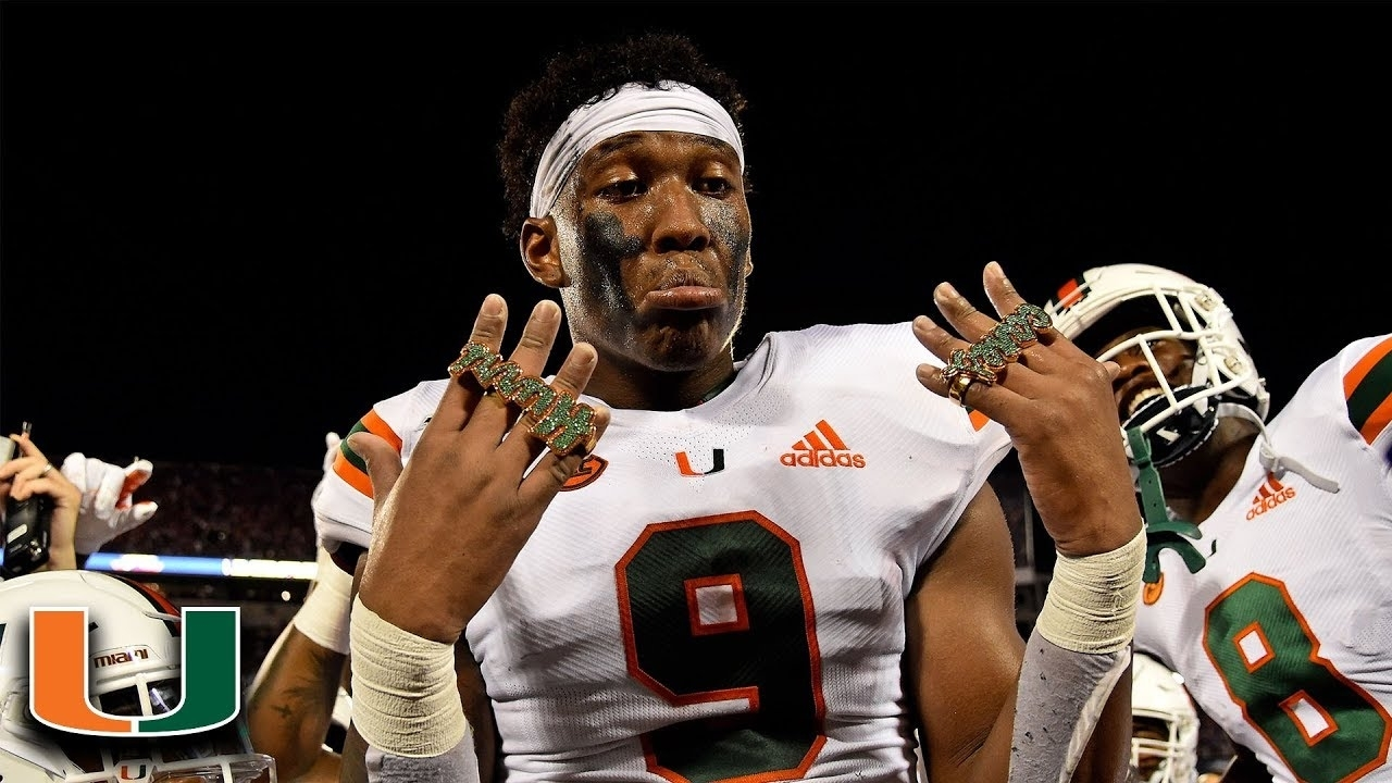 Miami's Brevin Jordan Scores And Gets Touchdown Ring within Miami Hurricanes With Super Bowl Rings