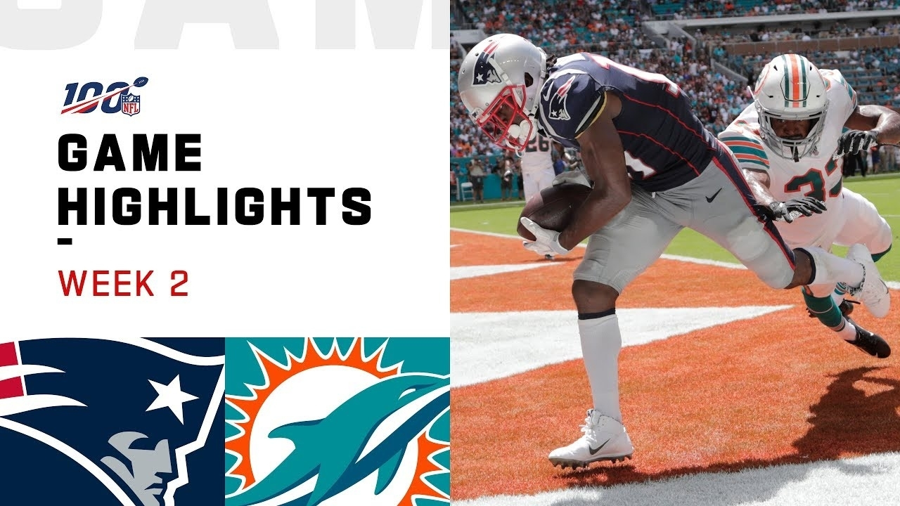 Patriots Vs. Dolphins Week 2 Highlights | Nfl 2019 with regard to Super Bowl 2019 Miami Dolphins