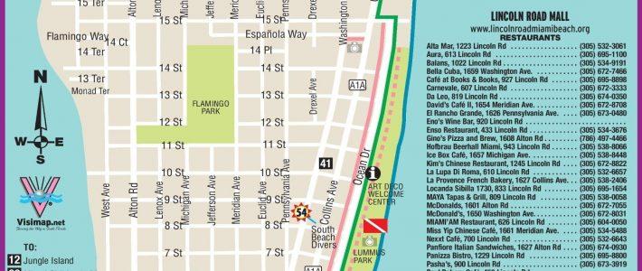 Pinyunk On Travels | South Beach Miami, South Beach with Miami Beach Restaurant Map