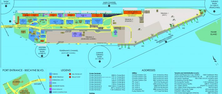 Portmiami - Cruise Terminals - Miami-Dade County regarding Port Of Miami Florida Map