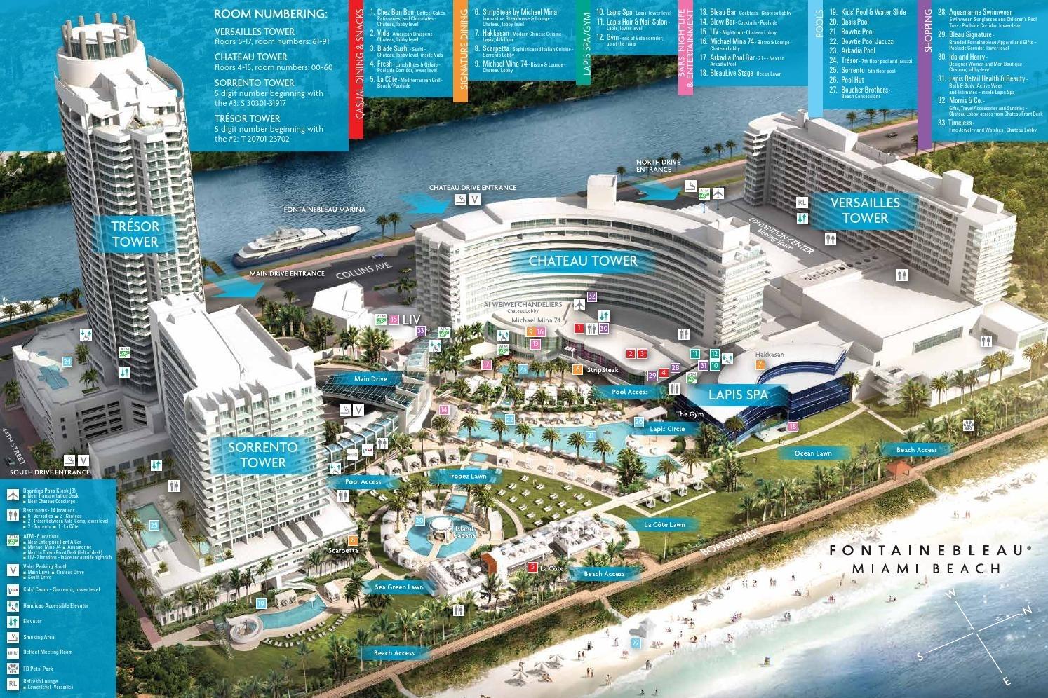 Property Mapfontainebleau Miami Beach - Issuu with Fontainebleau Miami Beach Map