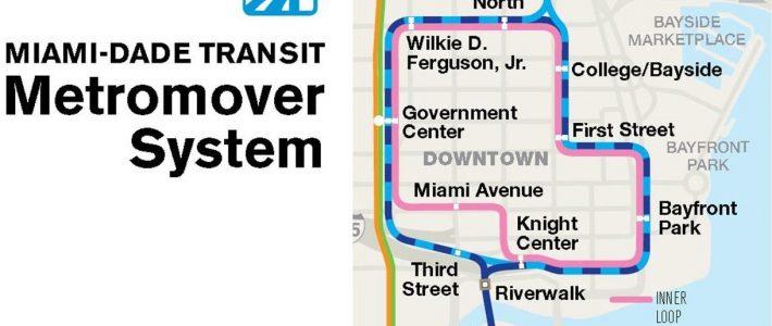 Public Transportation | Flagler Street Project inside Miami Dade Transit Metromover Map