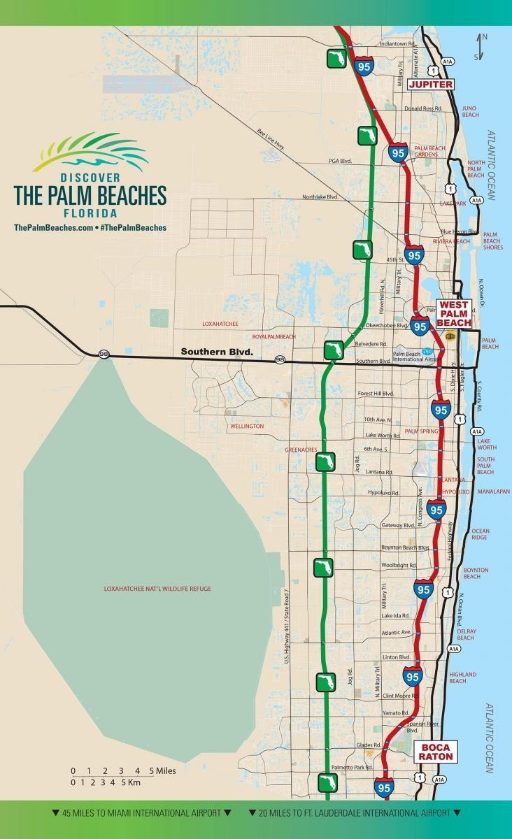 Road Access   The Palm Beaches Florida with Florida Turnpike Map Miami To Orlando
