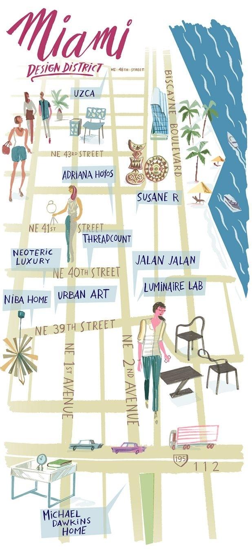 Shop America: Miami | South Beach Miami, Miami Map, Florida with Miami Beach Shops Map