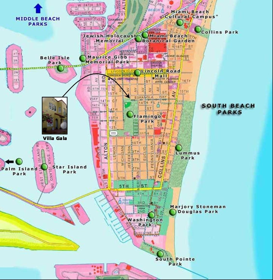 South Beach Miami - Exotic Places In The World pertaining to Miami South Beach Map