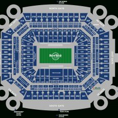 Stadium Seating Chart - Hard Rock Stadium for Miami Dolphins Stadium Map