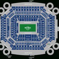 Stadium Seating Chart - Hard Rock Stadium for Miami Dolphins Stadium Map