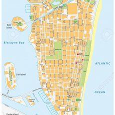 Stock Photo throughout Mapa De Miami Beach Florida