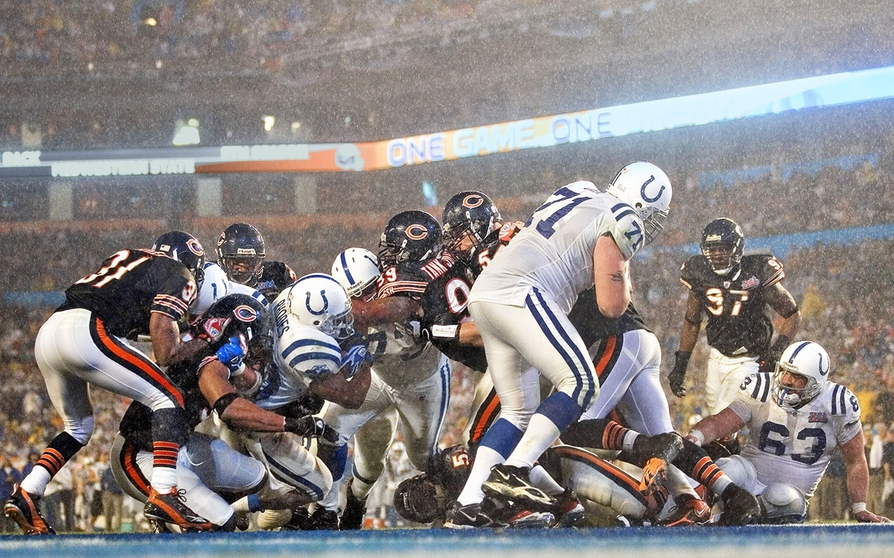 Super Bowl 2007: Peyton Manning And Colts Defeat Bears   Vault intended for Bears Super Bowl Miami