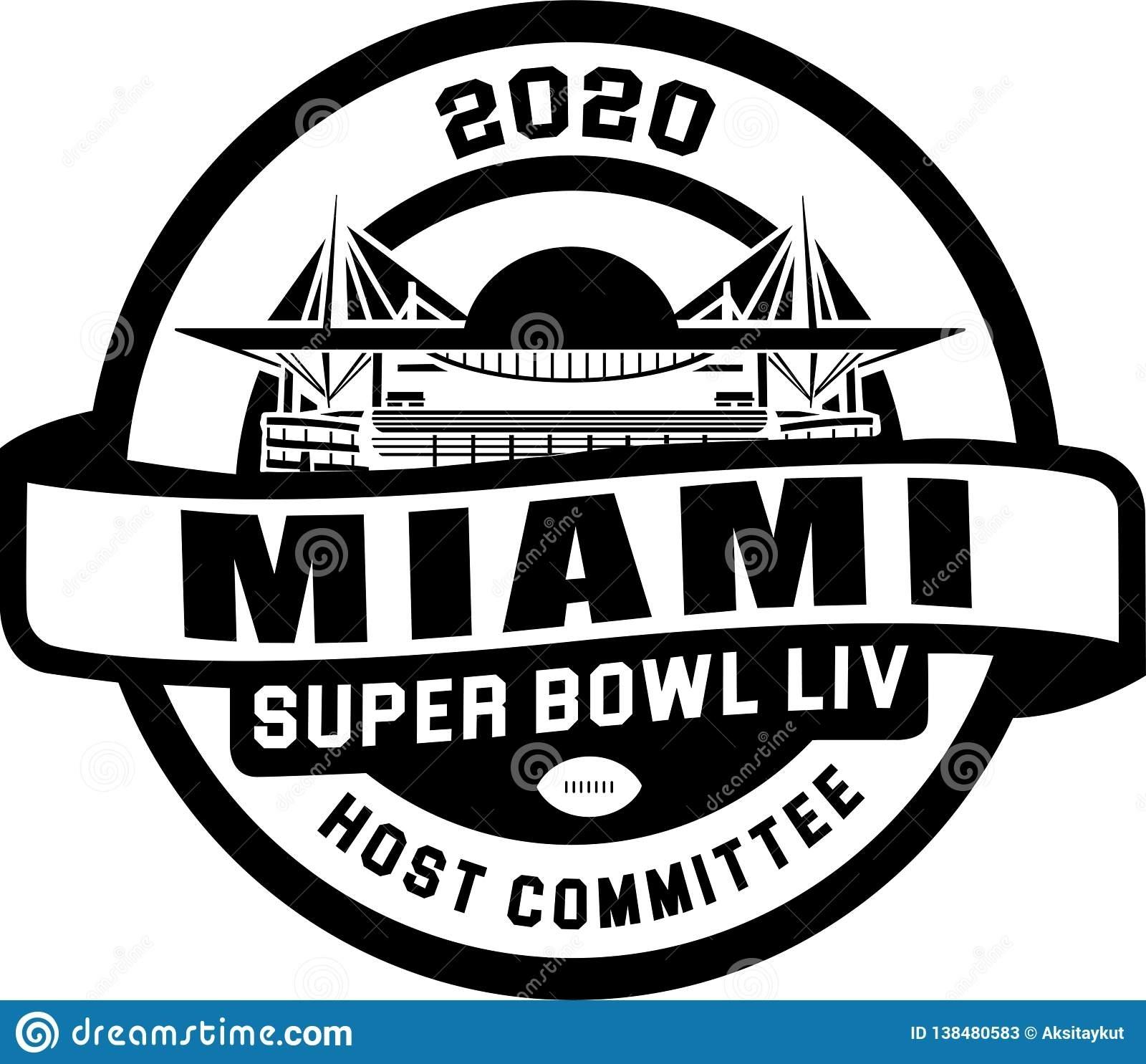 Super Bowl 2020 Logo Vector with Super Bowl 2020 Miami Logo