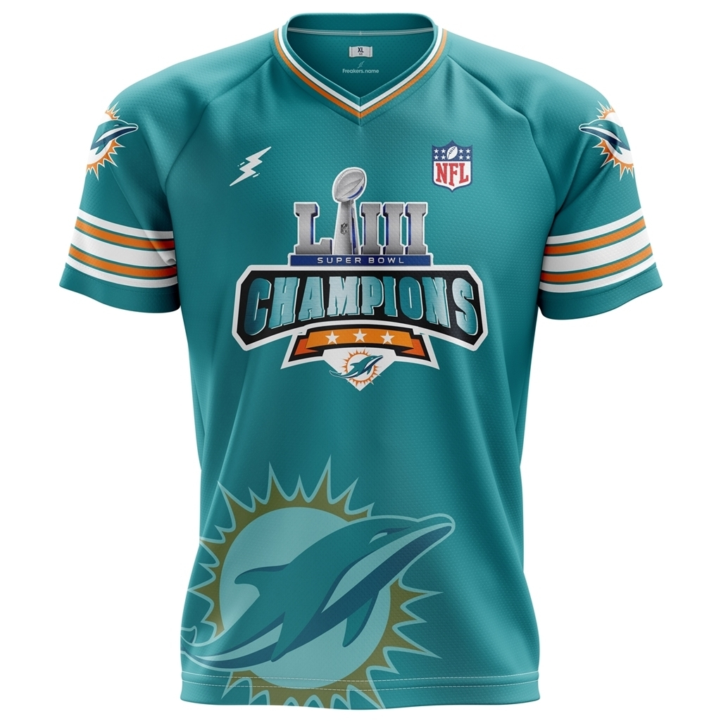 Super Bowl Liii Champions Miami Dolphins 2019 regarding Super Bowl 2019 Miami Dolphins