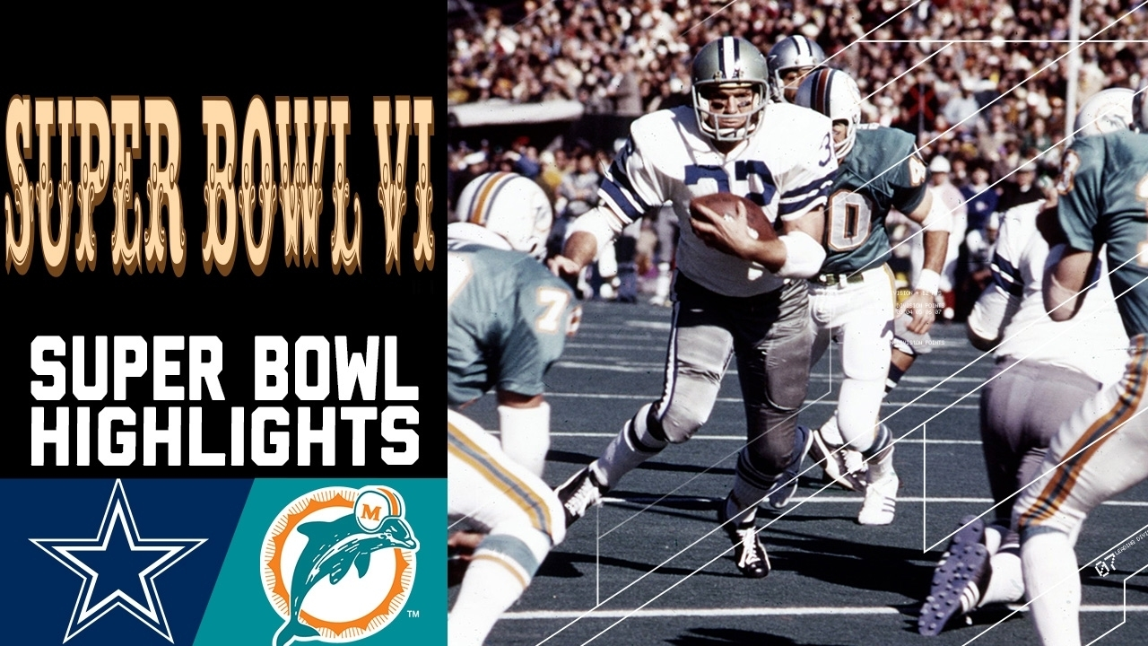 Super Bowl Vi Recap: Cowboys Vs. Dolphins | Nfl for Dallas Miami Super Bowl