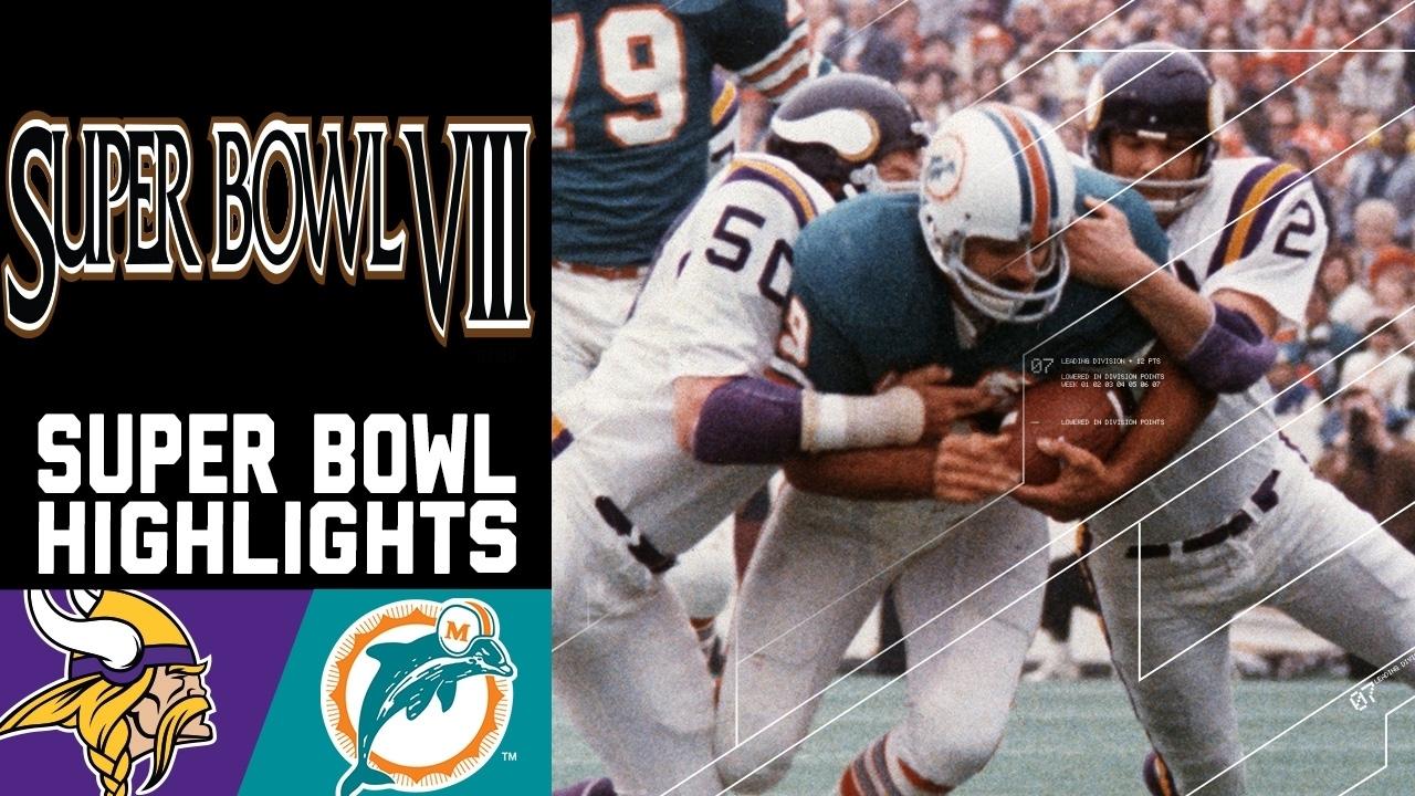 Super Bowl Viii Recap: Vikings Vs. Dolphins   Nfl for Miami Dolphins Super Bowl History