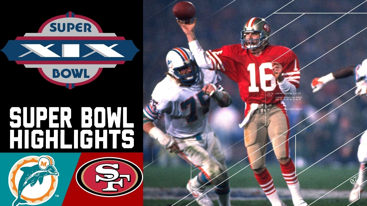 Super Bowl Xix: Dolphins Vs. 49Ers   Nfl intended for When Did Miami Dolphins Win The Super Bowl