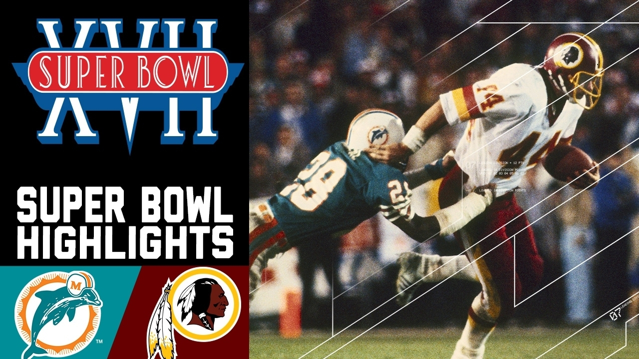 Super Bowl Xvii: Dolphins Vs. Redskins   Nfl within Miami Dolphins Super Bowl History