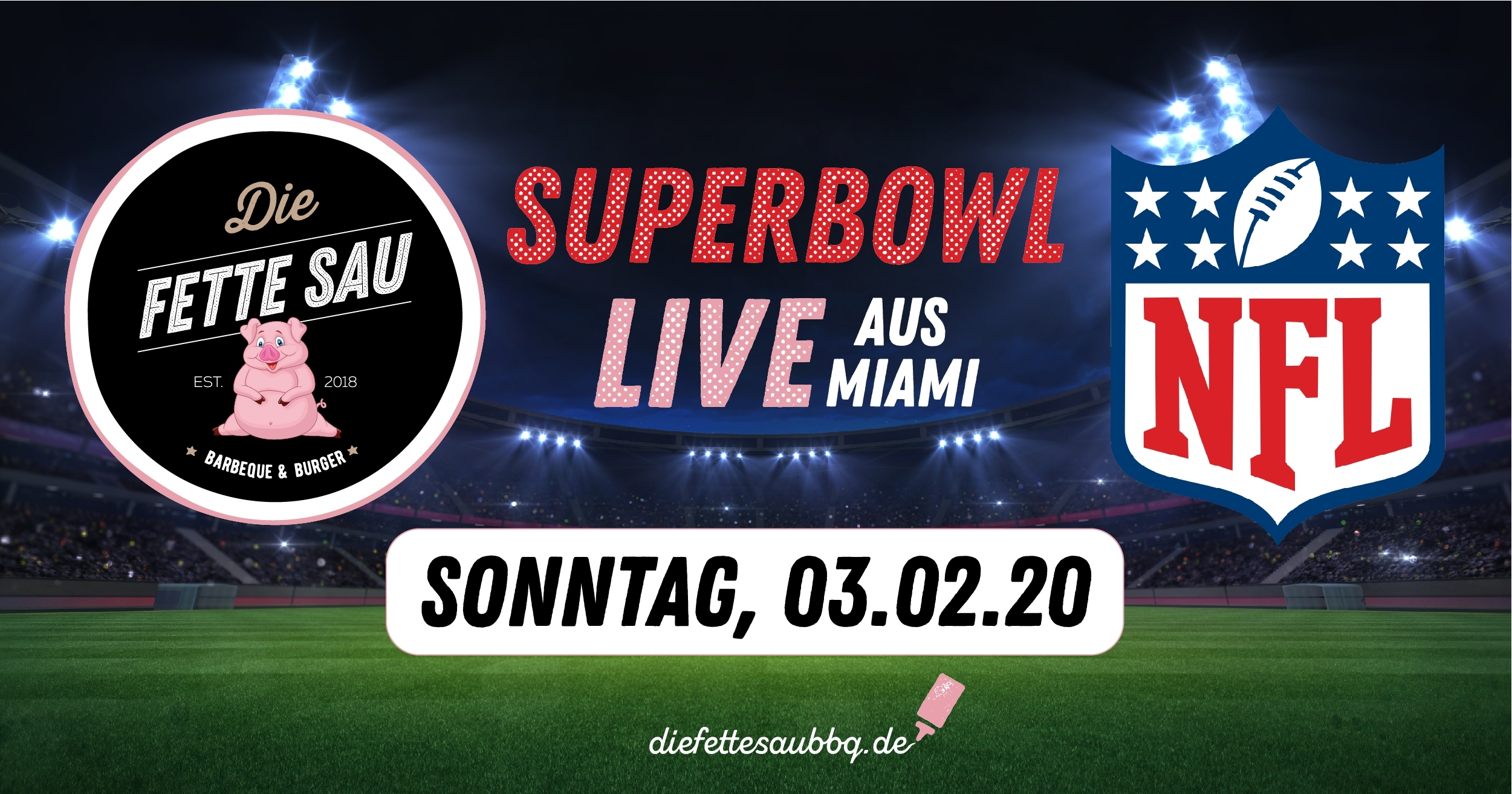 Superbowl 2020 Live Aus Miami! with Super Bowl Time Miami