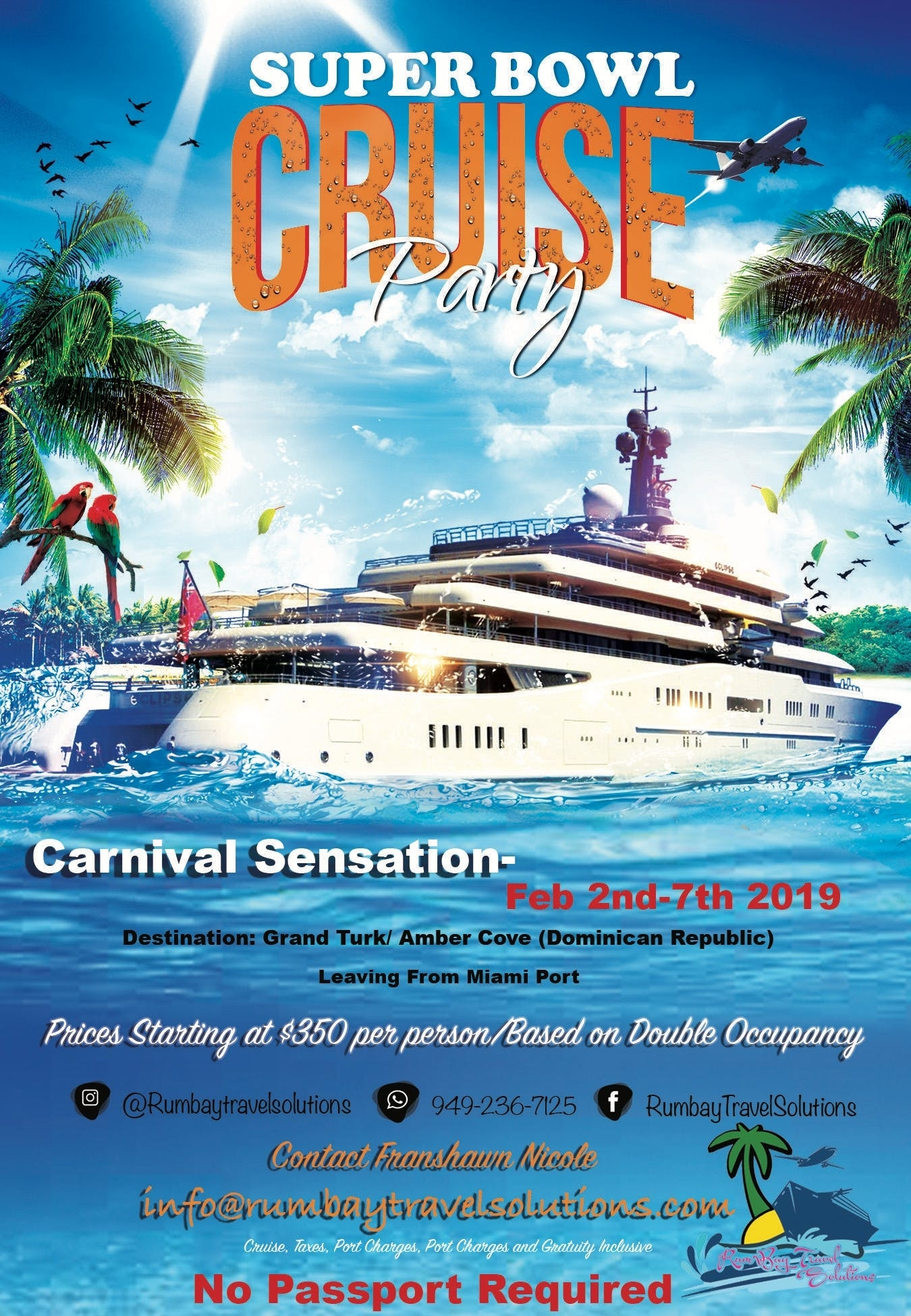 Superbowl Cruise 2019 Amber Cove, Dominican Republic/grand regarding Miami Super Bowl Cruise