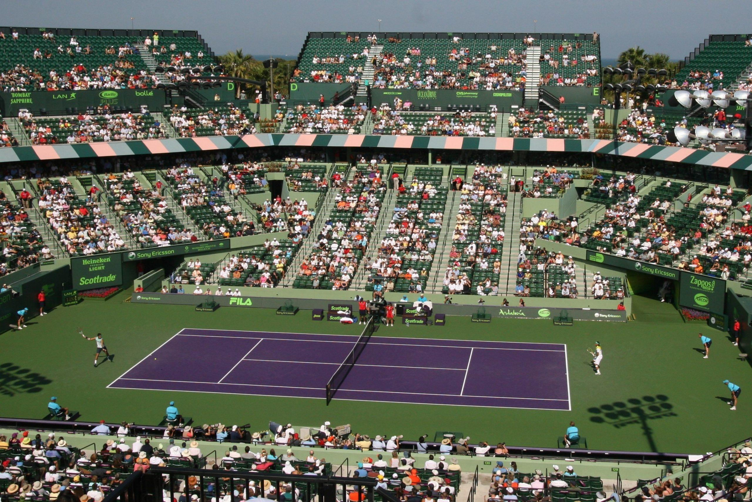 Tennis Center At Crandon Park - Wikipedia with Miami Open Stadium Layout