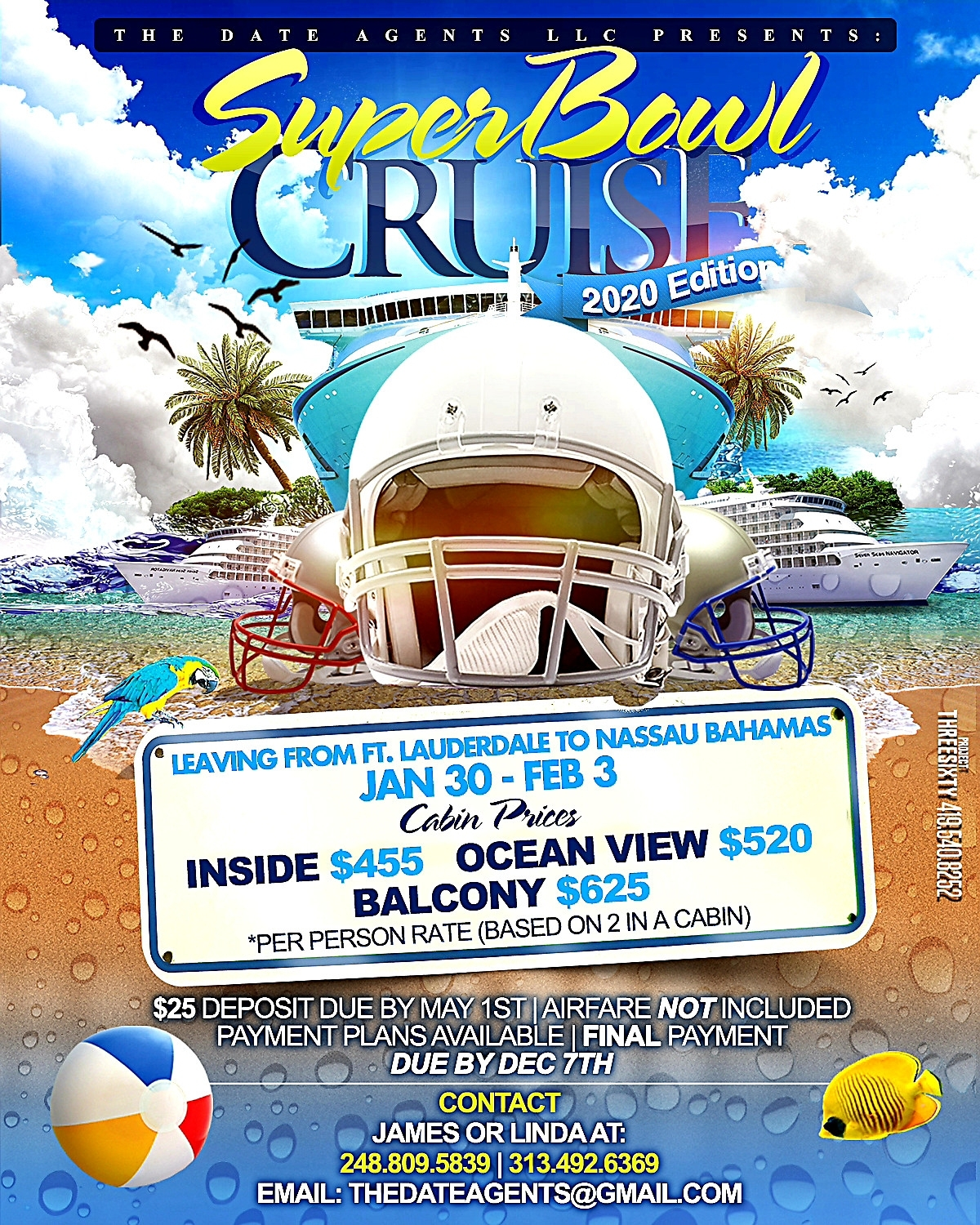The Date Agents Superbowl Cruise 2020 - 30 Jan 2020 within Miami Super Bowl Cruise