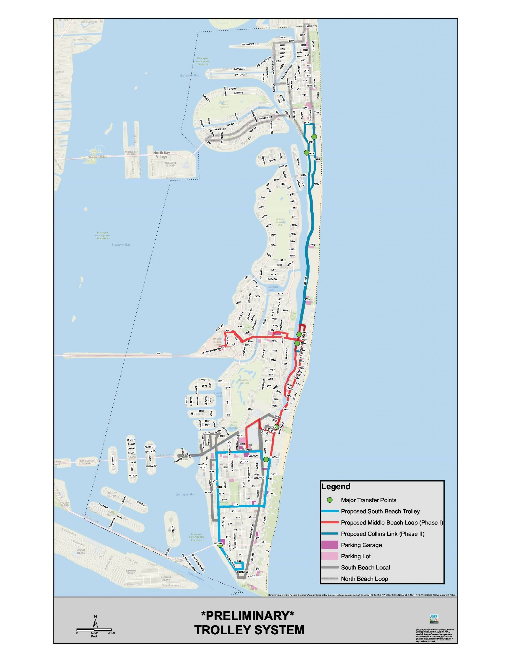 Trolley And South Beach Local Bus | West Avenue Neighborhood intended for Bus In Miami Beach Map