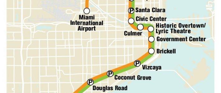 U-Bahn Von Miami | Mapa Do Metrô, Cidade De Miami E Miami with Miami Transit Rail Map